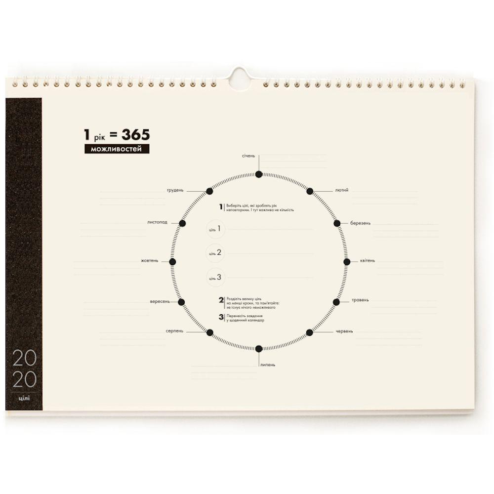 Календар для планування мандрівок з наліпками, формат А3 білі сторінки