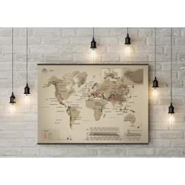 """Карта горных вершин """"World"""" Kuluar со скретч покрытием"""
